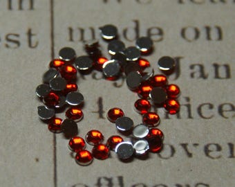 "30 ""siam"" 2mm red rhinestones"