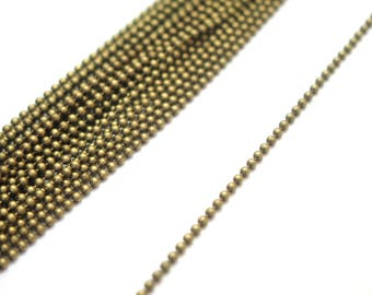 Metal bronze 1.5 ball chain mm-sold by the yard