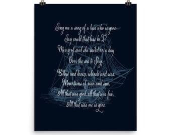 Skye Boat Song for Fans of Outlander Poster