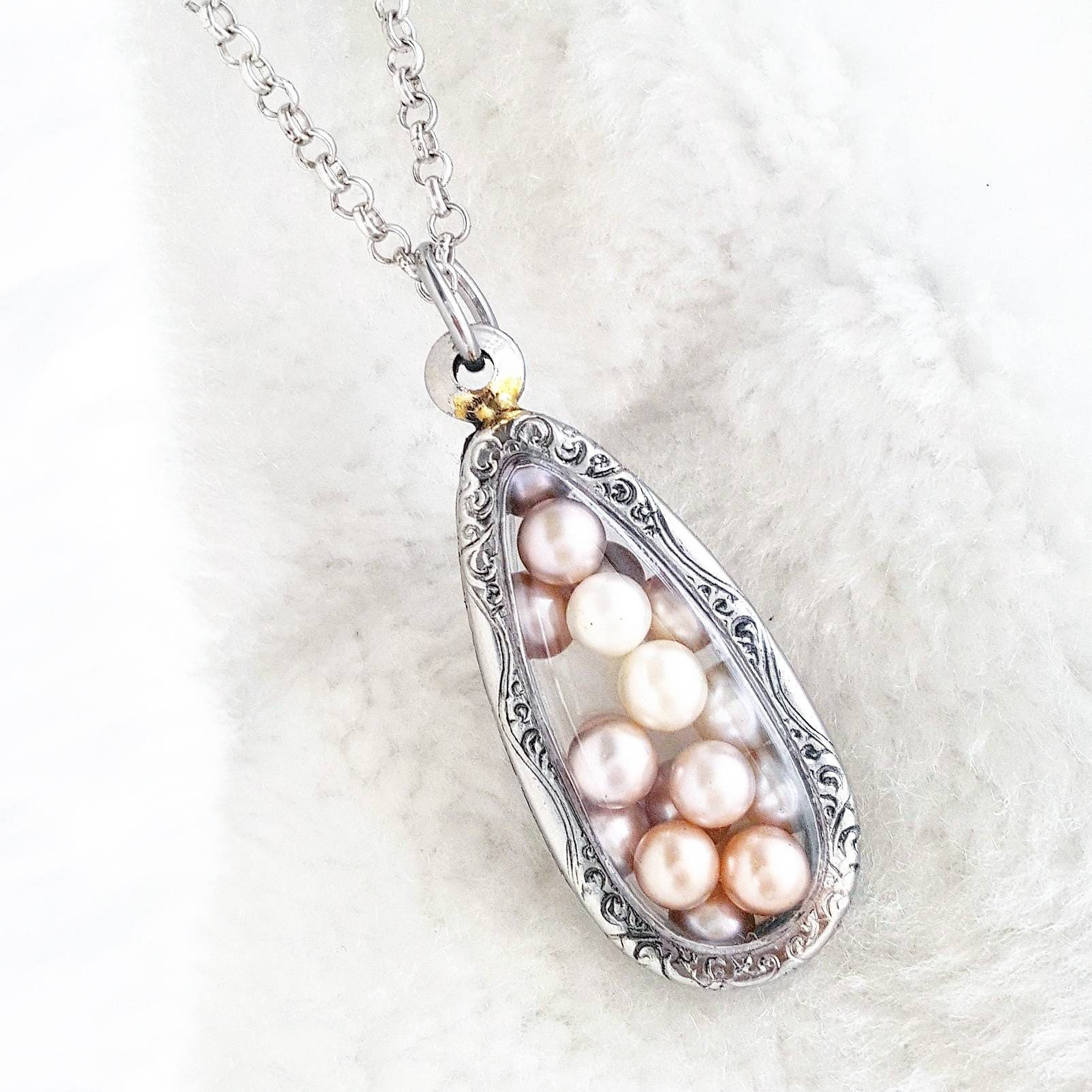 Pearl Necklace Akoya: Akoya Pearl Cage Terrarium Necklace For Pick A Pearl Akoya