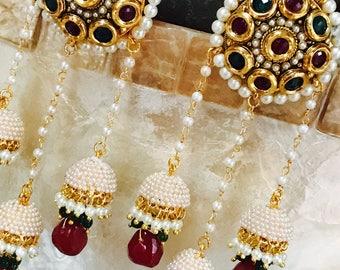 E-35 Polki Kundan earrings