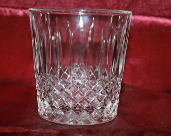 M3 Constance Plain by Cristal D'Arques Durand Old Fashioned Cold Only Crystal Glass Like Brand New Condition