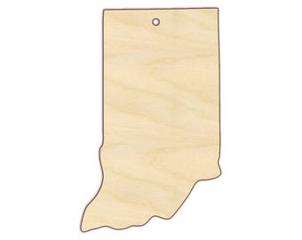 Indiana Ornament Blank - Christmas Ornament - Unfinished wood