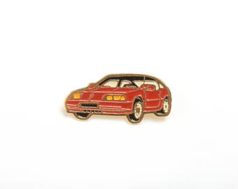 enamel pin, enamel lapel pin, car enamel pin, retro lapel pin, 90s lapel pin