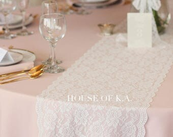 lace table runner roll 12 12 inches x 15 yd warm white soft