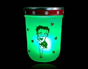 Betty Boop Lantern - Betty Boop Gift - With color changing light