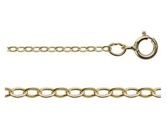 14 Inch 14 Kt Gold-filled 1.4mm Flat Cable Chain, 14/20 Gold-filled, USA Seller, Fast Shipping (CGF101-14)