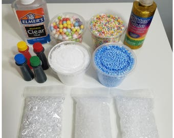 Mega crunchy slime making supplies bundle kit