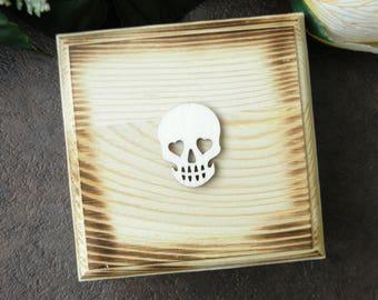 Rustic Ring Bearer Box, Ring Bearer Pillow, Skull Ring Box, Pretty Monster Wedding Ring Box, Personalized Initials Box, Ring Bearer Boxes