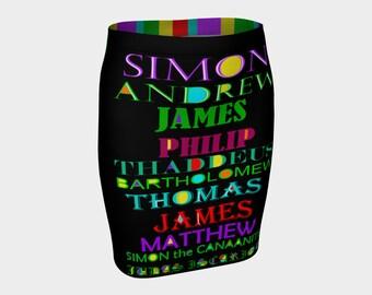 The 12 Dicsiples  Pencil Skirt  XS-S-M-L-XL Bible Men Jesus Religion  Clothes Wearable Art A-Line Clothing Women Bottoms Stretch Skirts