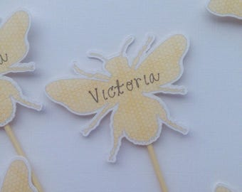 Personalised Bee Cupcake Toppers