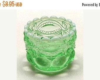 Summer Sale Salt Cellar Eyewinker Pattern in Green Opal - L.G. Wright Mold
