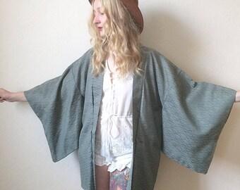 Vintage Silk Japanese Haori Kimono Jacket