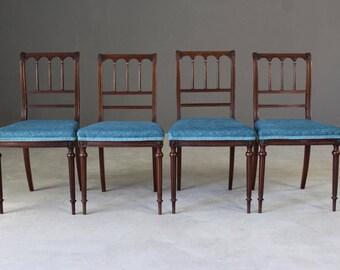 4 Morison & Co Mahogany Side Chairs