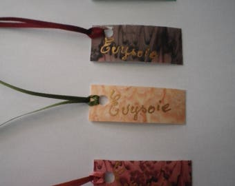 Silk gift tag, personnalisable@evysoie