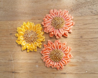 Sunflower, mosaic materials, flower, ceramics, mosaics, Putoet, PutoetOrgnls