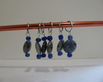 Set of 6 Glass Knitting Stitch Markers