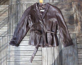jacket/blazer leather augneau
