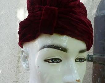 Vintage red velvet Hat