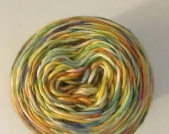 Acrylic wool blend hand dyed yarn