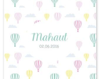 Faire-part de naissance Mahaut, graphique et moderne à personnaliser