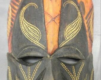 Save 15% Old vintage African hand carved wooden ethnic tribal native mask Jambo Kenya Africa