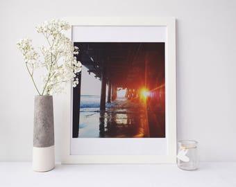 California Print, california photography, santa monica pier, santa monica photograph, sunset photograph, sunset art, los angeles, photgraph