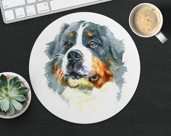 Moscow Watch Mouse Pad Dog Mouse Mat Fabric MousePad Round MouseMat Her Gift Watercolor MousePad Cute Mouse Mat Desk Dog Lover Gift Office