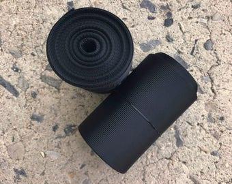 "3"" 3 Inch Black Solid Grosgrain Ribbon Cheer Bow Ribbon 5 YARDS"