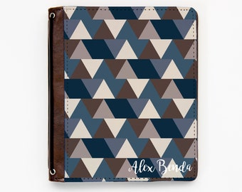 Customizable Traveler's Notebook Cover - Distorted Triangles