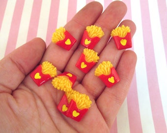Resin French Fry Cabochons French Fries,  #228