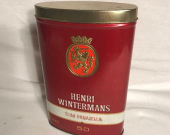 Old Metal HENRI WINTERMANS Holland 50 p Vintage cigar box