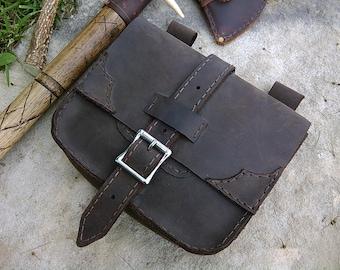 Medieval, Bushcraft, Viking, Leather Belt Bag