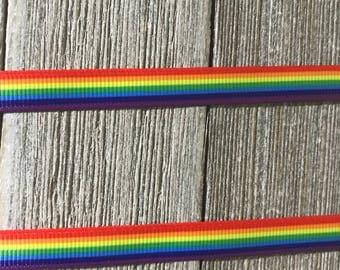 "Rainbow Ribbon, Colorful Ribbon, 3/8"" Rainbow"