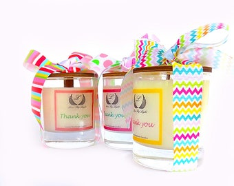 Thank you scented soy candle, appreciation gifts, thank you gift for friend, thank you gifts for women, unique thank you gifts for her