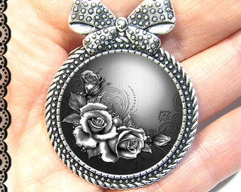 Brooch pin with its Cap 3 cm * roses * (111216)