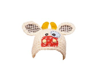 DIGITAL Cow Hat Accessory. One of a kind prop!