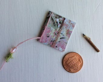 Miniature Journal by Olive* ~ Miniature Pencil by Olive ~ Handcrafted by Olive