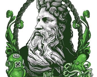 King Neptune Art Etsy