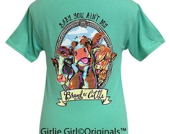 Girlie Girl Originals Brand of Cattle Cool Mint Short Sleeve T-Shirt