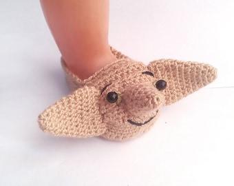 Harry Potter Dobby  baby  Slippers/Harry Potter Baby /Harry Potter nursery/Dobby Booties/Slippers/shoes Size 0-12 Months,etsy.com