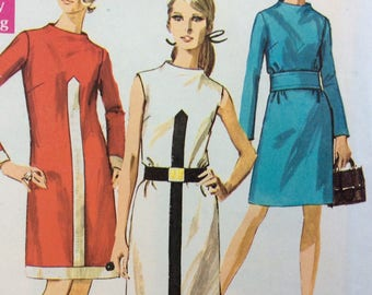 Simplicity 7940 misses Jiffy sheath dress size 14 bust 36 vintage 1960's sewing pattern