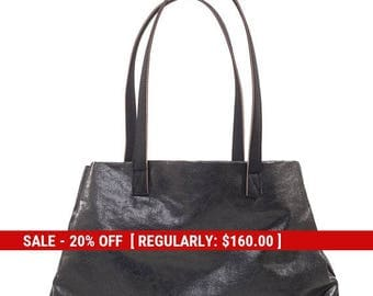 black tote bag - black tote purse - black shoulder bag - vegan tote - vegan shoulder bag - black bag - fabric totes - womens totes - BSHOR