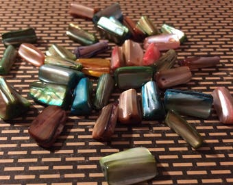 Destash Mother of Pearl Beads 36 Pieces