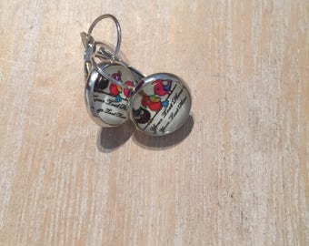 Earrings 12mm OWL cabochon