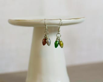 Christmas Jewelry, Christmas Earrings, Christmas, Holiday Jewelry, Christmas Lights, Holiday Style