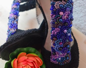 Crochet shoes, Handmade shoes, Crocheted Women Shoes, Spring-Summer, Outdoor shoes, Sandals, Wedding shoes, Anniversary Shoes