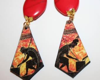Earrings Baroque - the fire of Vulcan!