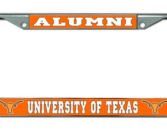 University of Texas Alumni Chrome License Plate Frame