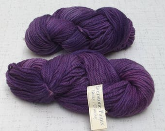 Louet Riverstone Paints yarn,  BulkyYarn, Purple, Yarn Destash